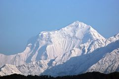 Dhaulagiri - majestic mountain in Himalaya. Dhaulagiri - majestic mountain in Himalaya, near Pokhara, Nepal royalty free stock photography