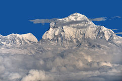 Dhaulagiri Himal. Dhaulagiri at 8, 167 metres ranks seventh among Earth's fourteen peaks over eight thousand metres in Nepal royalty free stock images