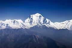 Dhaulagiri mountain. At the sunrise, Himalaya royalty free stock photography