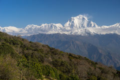 Dhaulagiri mountain peak view, Ghorepani village, ABC, Pokhara, royalty free stock images