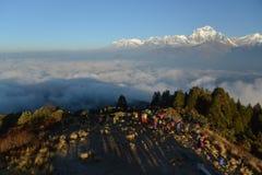 Dhaulagiri mountain on sunrise, Poon Hill stock photography