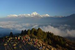 Dhaulagiri mountain on sunrise, Poon Hill, Himalaya. Nepal. Dhaulagiri mountain on sunrise, Poon Hill, Himalaya Nepal. november 2014 royalty free stock photos