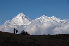 Dhaulagiri and Nilgiri Stock Photo