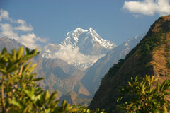 Dhaulagiri peak. Near Annapurna, Nepal Stock Images