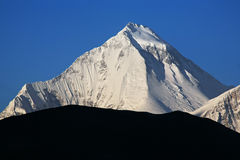 Dhaulagiri Peak Himalayas. Dhaulagiri peak (8167 m) at sunrise. Nepal, Himalayas royalty free stock photography