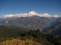 Dhaulagiri Range. Dhaulagiri himalayan Range from Poon hill royalty free stock photo