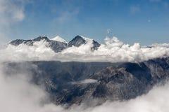 Dhaulagiri range from Mesokanto pass in. Dhaulagiri range from Mesokanto pass in Himalayas royalty free stock images