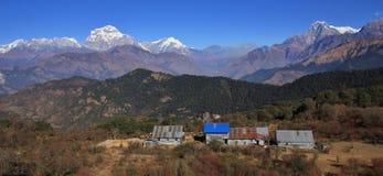 Dhaulagiri range and Nilgiri stock photography