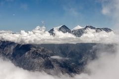 Dhaulagiri range view from Mesokanto pass in. royalty free stock image