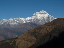 Dhaulagiri ricoperto neve Immagini Stock Libere da Diritti