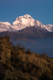 Dhaulagiri snow mountain peak during sunrise Royalty Free Stock Image