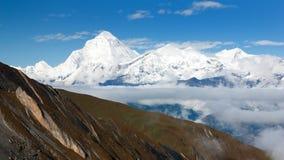 Dhaulagiri from thorung la pass Royalty Free Stock Images