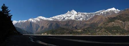 Dhaulagiri an Tukuche Peak Stock Image