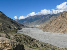 Dhaulagiri y Kali Gandaki River Valley, Nepal Foto de archivo libre de regalías