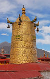 Dhavja on the roof of Jokhang temple Stock Image