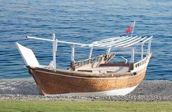 Dhaw, bateau de pêche traditionnel du Bahrain Photographie stock libre de droits
