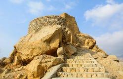 Dhayah堡垒在北部哈伊马角阿联酋 免版税库存照片