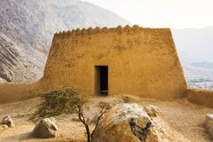 Dhayah堡垒在北部哈伊马角阿联酋 库存图片
