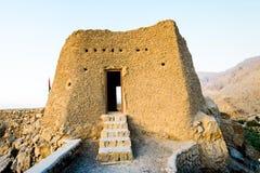 Dhayah堡垒在北部哈伊马角阿联酋 免版税图库摄影