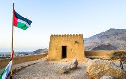 Dhayah fort i norr Ras Al Khaimah United Arab Emirates Royaltyfria Foton