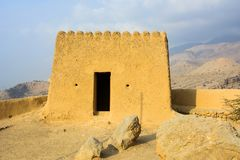 Dhayah fort w północnym Rasa Al Khaimah Zjednoczone Emiraty Arabskie Zdjęcie Royalty Free