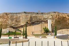 Dheftera, Nicosia, CHIPRE - 30 de maio de 2014: Vista na igreja de Panagia Chrysospiliotissa Imagens de Stock