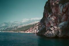 Dhermi海滩 免版税图库摄影