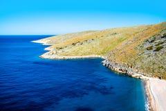 Dhermi海滩在阿尔巴尼亚 免版税库存照片