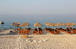 Dhermi,阿尔巴尼亚惊人的海滩  免版税库存照片