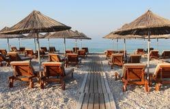 Dhermi,阿尔巴尼亚惊人的海滩  库存照片
