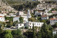Dhermi wioski tradycyjny widok w południowym Albania Zdjęcia Stock