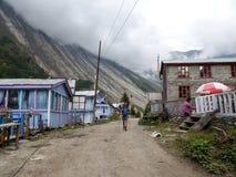 Dhikur Pokhari village, Nepal stock images
