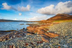 Dhiseig on the Isle of Mull stock images
