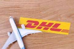 DHL Fotografia Stock Libera da Diritti