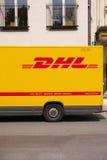 DHL abstrakt begrepp Arkivfoto