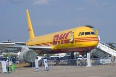 DHL airplane shown at MAKS International Aerospace Salon Stock Images