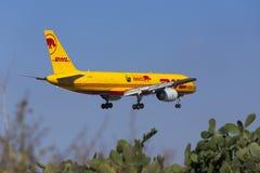 DHL 757 avec les inscriptions spéciales Photo stock