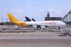 DHL Boeing 747 Immagini Stock
