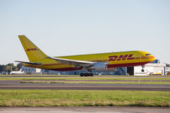 DHL Cargo Aircraft Boeing 767 Royalty Free Stock Photo