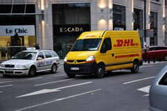 DHL courier delivery service Stock Image