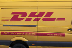 DHL courier van Stock Image