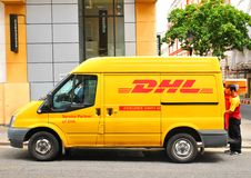 DHL delivery service Royalty Free Stock Image
