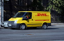 DHL delivery van Royalty Free Stock Photography