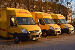 DHL delivery vans Stock Photos