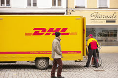 DHL driver Royalty Free Stock Photography
