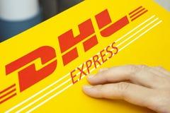 DHL Ekspresowy pakunek Zdjęcie Stock