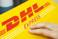 DHL Express package Stock Photo