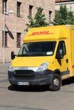 DHL Iveco van stock photos