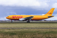 DHL jet take off Stock Photos
