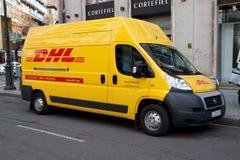 DHL leverans Royaltyfria Bilder